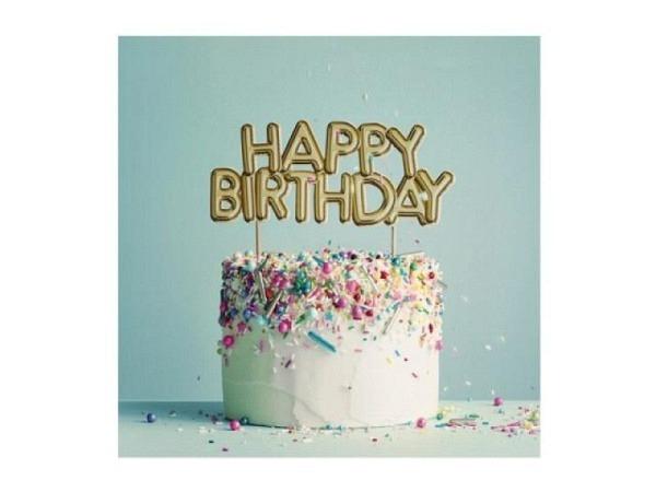 Geburtstagskarte Cart Happy Birthday 16x16cm, quadratische Doppelkarte