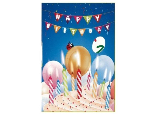 Geburtstagskarte Borer Drehzahl Kuchen 11,5x17cm