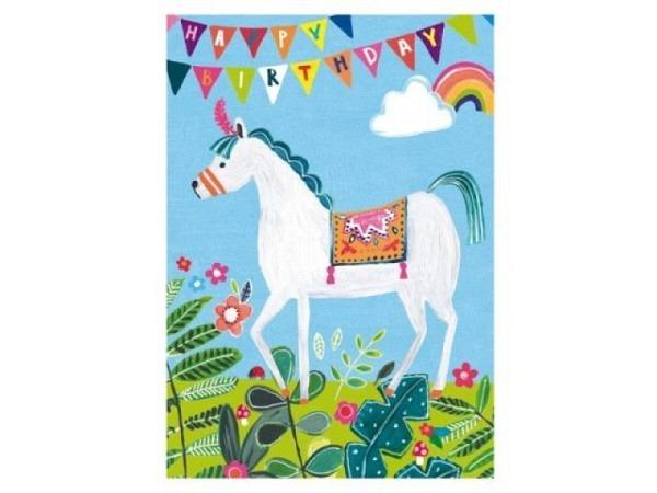 Geburtstagskarte Cart Shakies 12,5x12,5cm, quadratische Doppelkarte