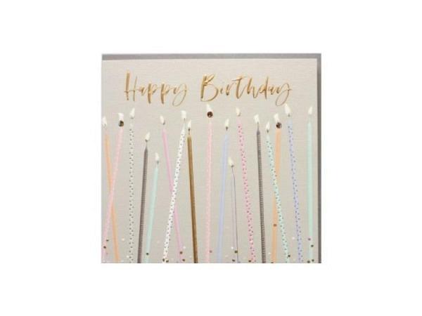Geburtstagskarte Elle Kerzen 15,9x15,9