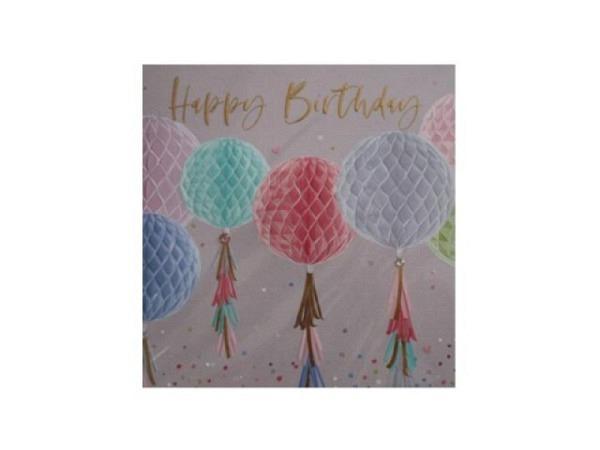 Geburtstagskarte Elle Pompom 15,9x15,9