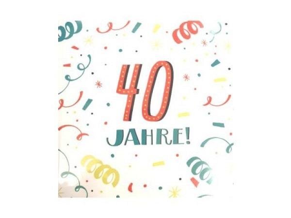 Geburtstagskarte Hallmark Musikkarte 40 Jahre! Mit Musik