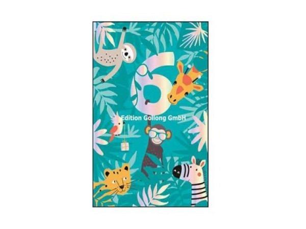 Geburtstagskarte Gollong Doppelkarte zum Geburtstag bedruckt mit Schmetterlinge, mit Text Happy Birthday, ohne Einlageblatt