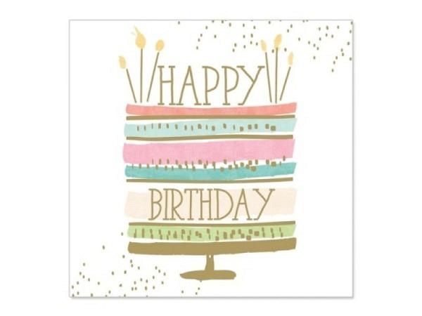 Geburtstagskarte Artebene Mini Torte 8x8cm