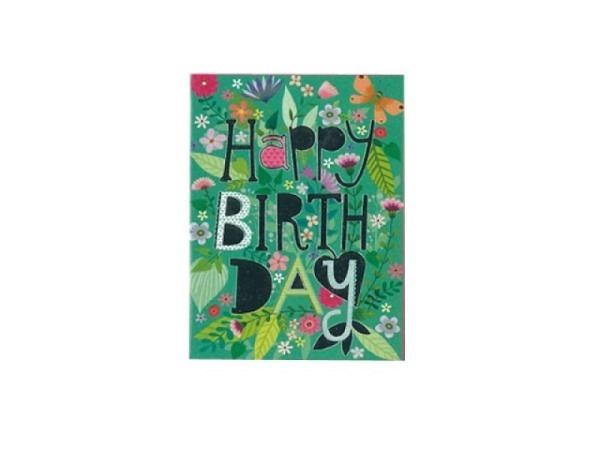 Geburtstagskarte Gollong 6x8cm grüne Pflanzen