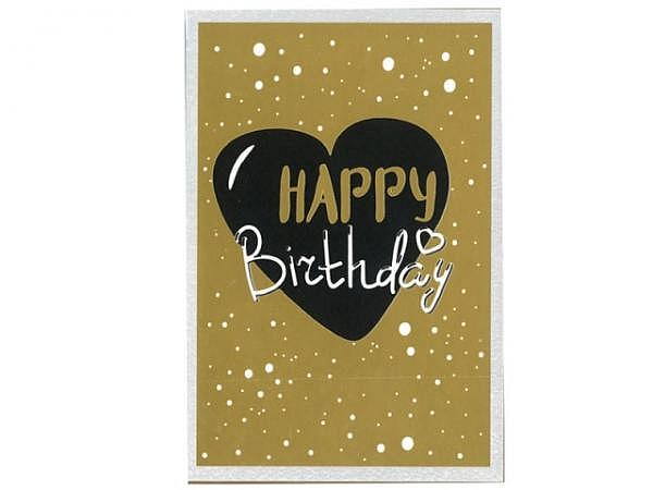 Geburtstagskarte Borer Goldenherz 11,5x17cm