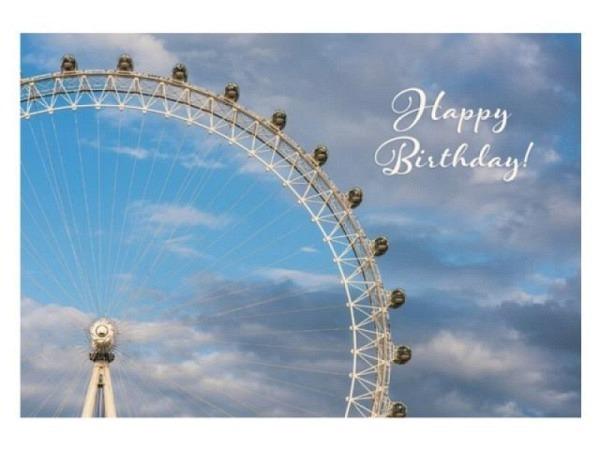 Geburtstagskarte Caroline Gardner PomPom Happy Birthday Flamingo 18x17cm