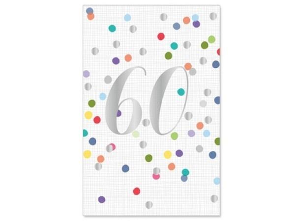 Geburtstagskarte Artebene 60 Jahre 11,5x17cm