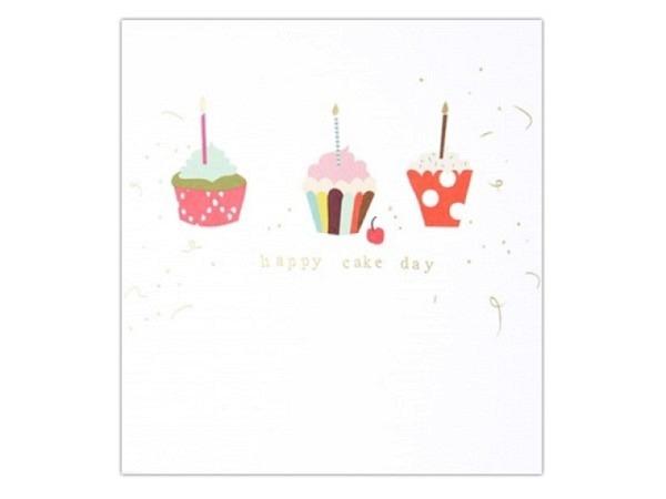 Geburtstagskarte Caroline Gardner Tippy-Toes Happy Cake Day 14,6x14cm