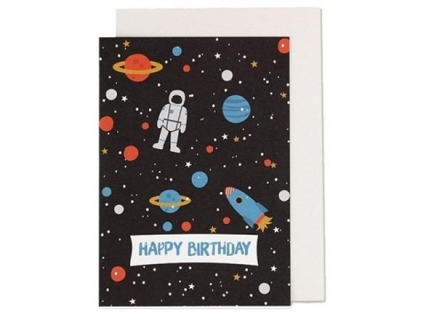 Geburtstagskarte Ava&Yves Space A6 14,8x10,5cm