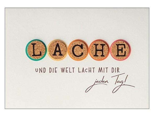 Geburtstagskarte Hartung Best Words Lache und die Welt lacht mit Dir jeden Tag!