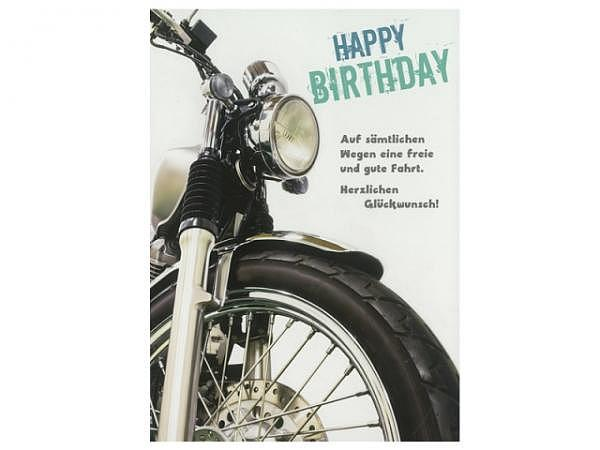 Geburtstagskarte Hartung Moments Happy Birthday - Motorrad schwarz