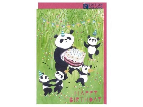 Geburtstagskarte Gollong Happy Birthday