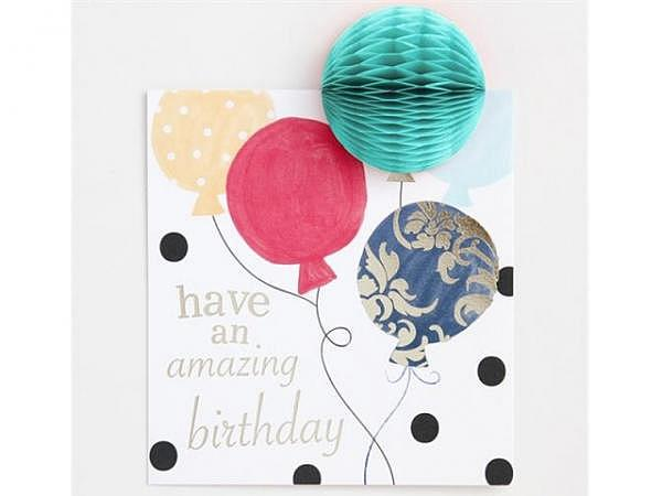 Geburtstagskarte Caroline Gardner PomPom Happy Birthday Balloons