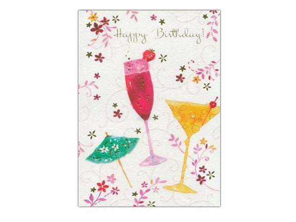 Geburtstagskarte AvanFlair Happy Birthday Cocktail