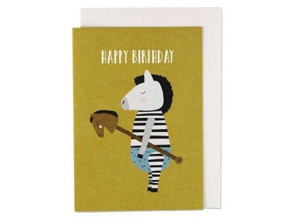 Geburtstagskarte Ava&Yves Steckpferd A6 14,8x10,5cm