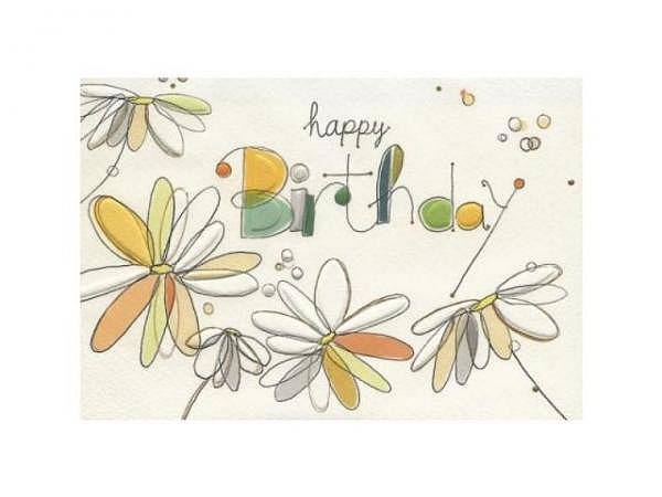 Geburtstagskarte Turnowsky Happy Birthday Dreiecke verziert