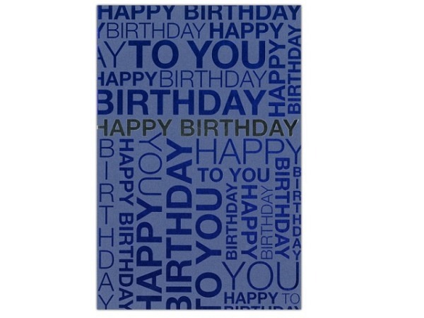 Geburtstagskarte ABC Happy Birthday Metallic-Line 11,5x17cm