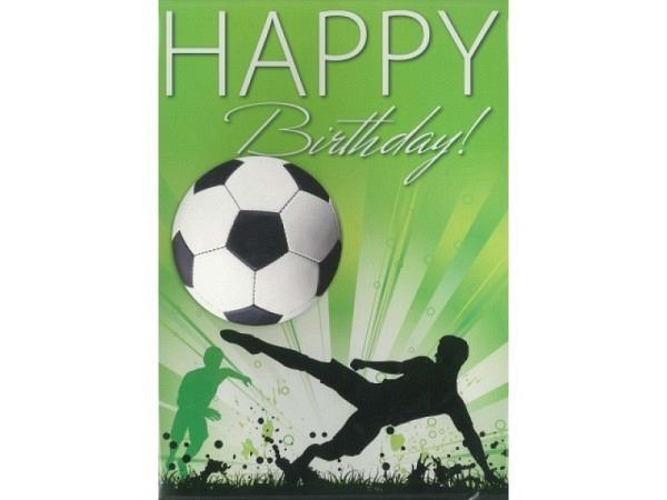 Geburtstagskarte Borer Fussball A4