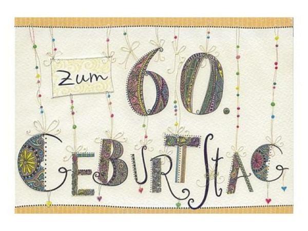 Geburtstagskarte Turnowsky 17,6x12,5cm Zahlengeburtstag 60