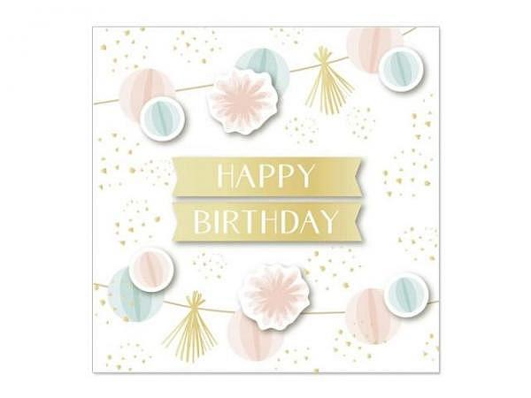 Geburtstagskarte Artebene Mini Girlande 8x8cm