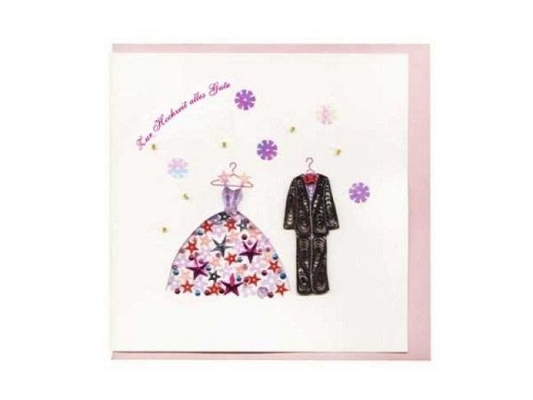 Vermählungskarte Hervorragend Quilling Hochzeit Kleider