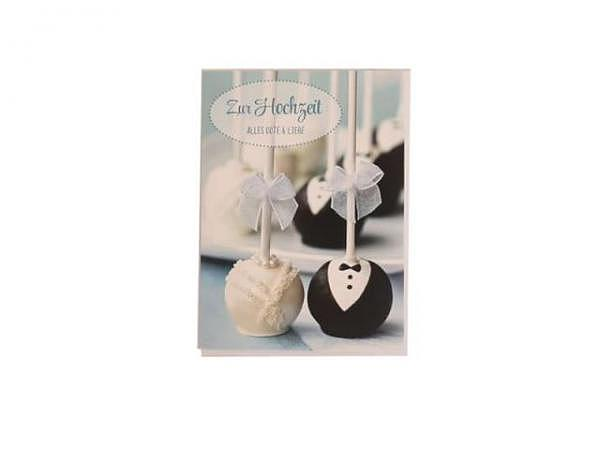 Vermählungskarte Hartung Moments Cupcakes 12x17cm, Doppelkarte