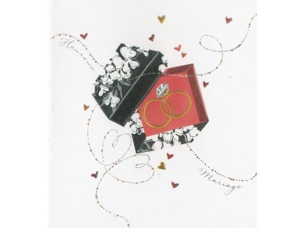 Vermählungskarte Pictura Hochzeitsringe 13x15cm