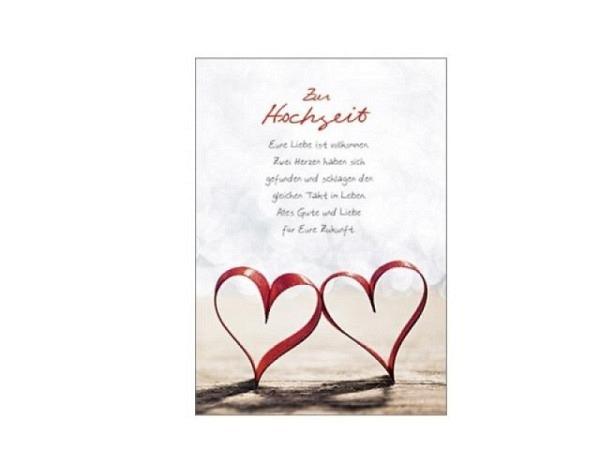 Vermählungskarte Hartung Moments Herz 12x17cm Doppelkarte