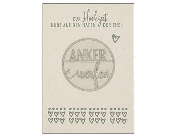 Vermählungskarte Hartung Best Words zur Hochzeit Kurs auf den Hafen der Ehe! Ankerwerfen