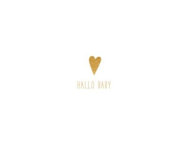Ereigniskarte Hallmark Signature Baby Love, weisse 3D Filzkarte