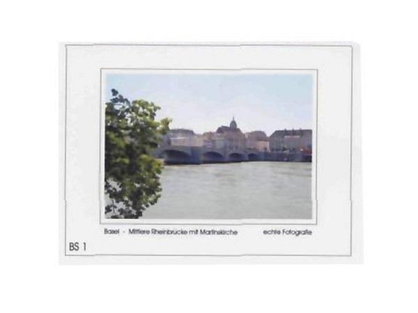 Karte Elite Cards Basel A5 mittl. Rheinbrücke Martinskirche