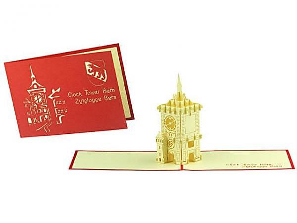 Geburtstagskarte Hervorragend Pop Up Zytglogge Turm, A6