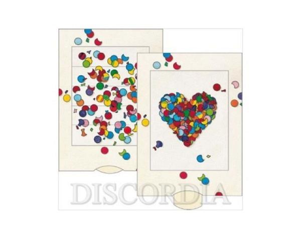 Karte Die Lebende Karte Konfetti Herz, 10,4x14,4cm