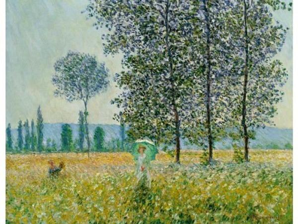 Karte Kunstverlag Claude Monet Felder im Frühling von 1887