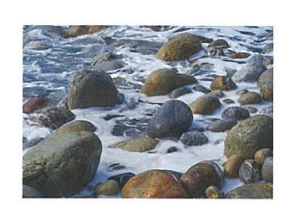 Karte Art Bula 12,2x17,5cm Steine im Meer mit Wasserschaum