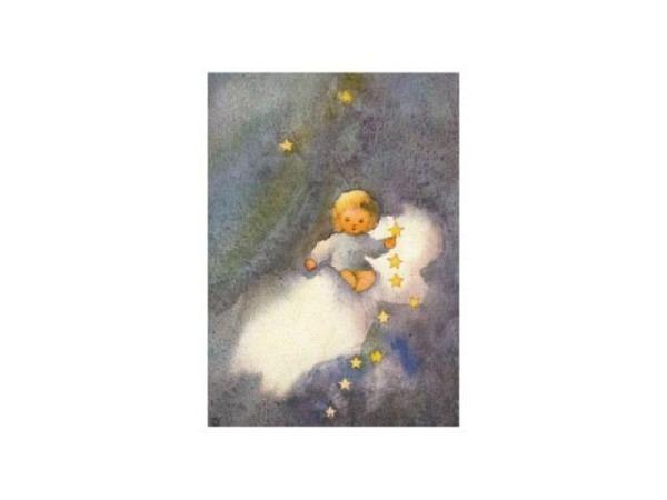 Karte Mili Weber Ehre sei Gott in der Höhe, Engel Wolke und Sterne