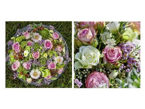 Kartenbox Art Bula 5er Set, 12,2x12,2cm vereiste Blätter