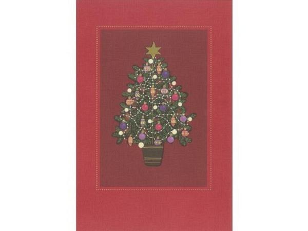 Weihnachtskartenbox ABC Weihnachtsbaum 11,5x17cm