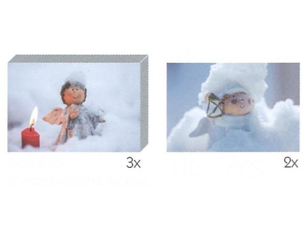 Kartenbox Art Bula 5er Set 7,4x10,5cm, Engel im Schnee