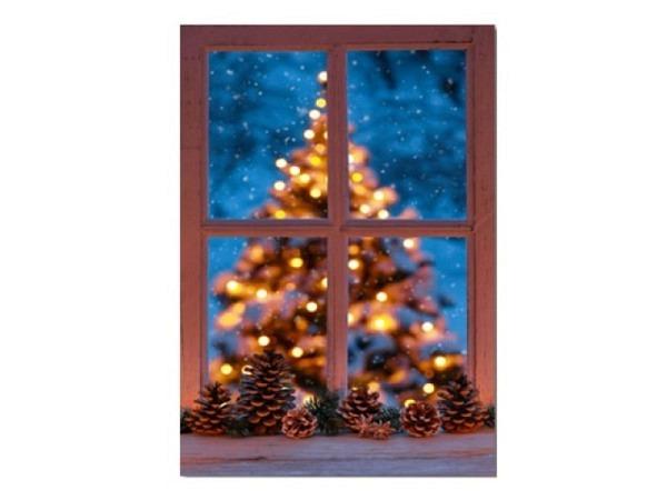 Weihnachtskarte Hartung Chichi gold Eulenschmuck