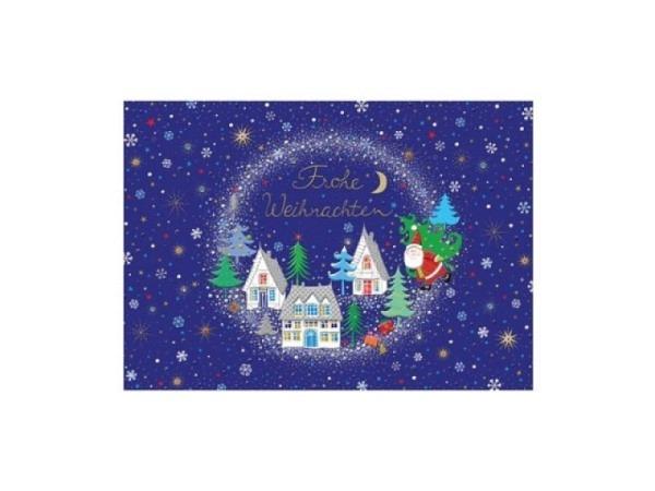 Weihnachtskarte Turnowsky  Königsfigur und Text