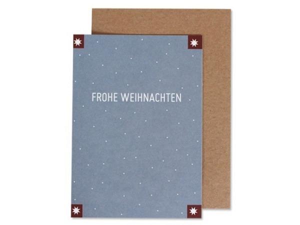 Geschenkumschlag Stewo Farley Kraftpapier 23x11cm, Schriftzug Merry Christmas