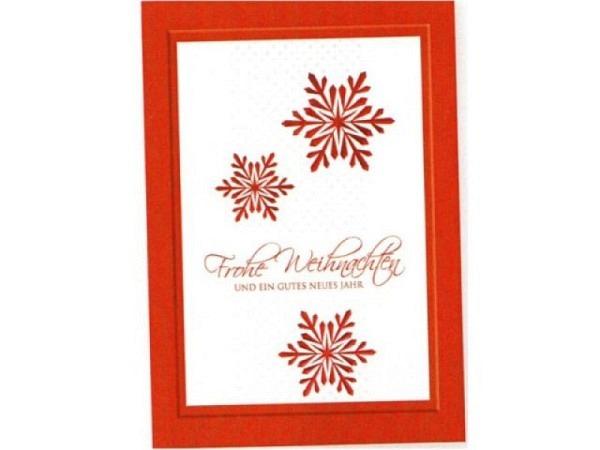 Weihnachtskarte Borer 3er Set Silberne Weihnachtskugeln, A5
