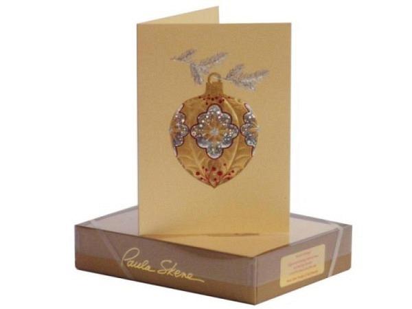 Weihnachtskarte Paula Skene Holly Ornament 8er Set Box