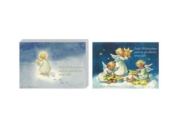 Kartenbox Art Bula 5er Set, Kind mit Kerze, Kinderengel
