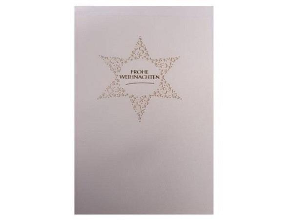 Weihnachtskarte Turnowsky Mini Hirsch geschmücktes Geweih