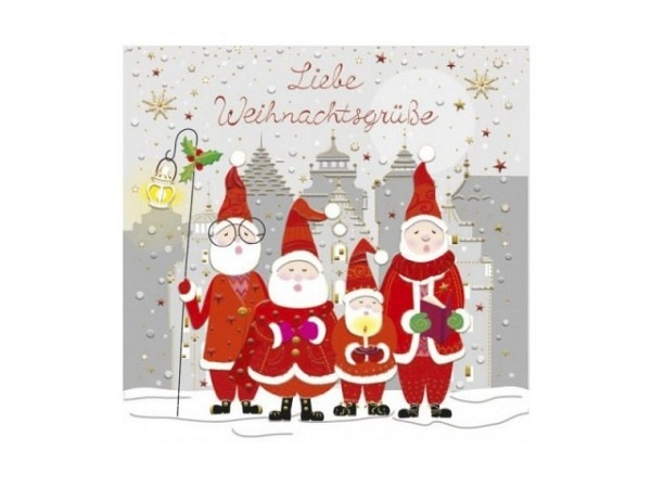 weihnachtskarte turnowsky mini mit weihnachtsmann auf