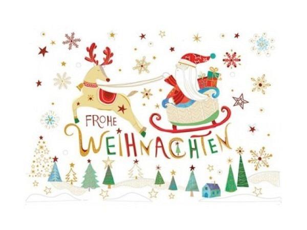 Weihnachtskarte Turnowsky Weihnachtshaus 12x17,5cm