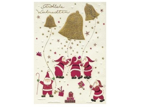 Weihnachtskarte Turnowsky Goldene Glocke 12x17,5cm